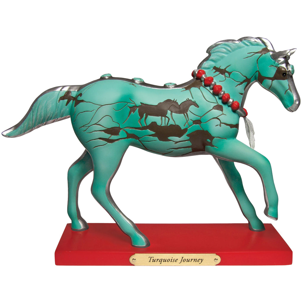 The Trail of Painted Ponies - Turquoise Journey Painted Pony - Quail Hollow Tack