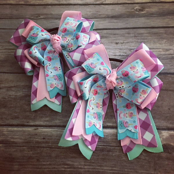 Gray & Co. Designs - Show Bows - Unicorn Everything - Quail Hollow Tack