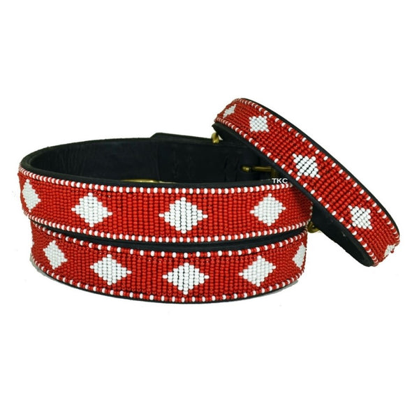 Beaded Dog Collar - Unity