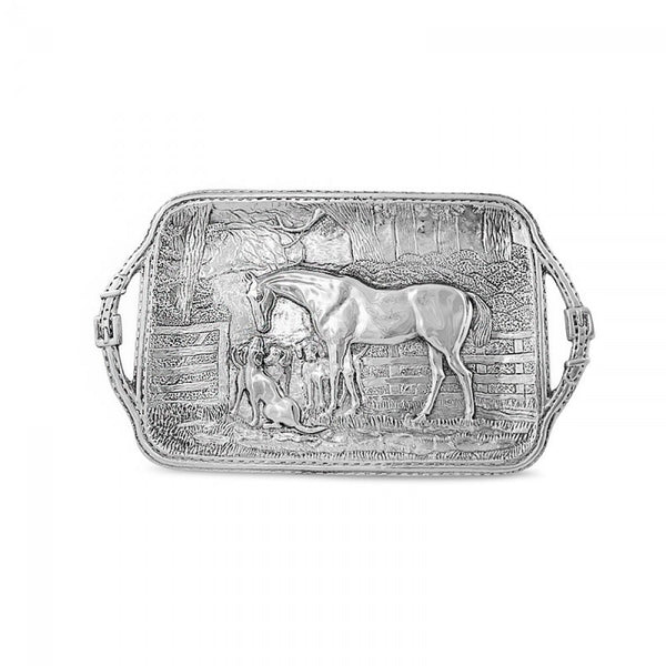 Beatriz Ball - Horse Tray with Saddle Stitch Belt Handles - Quail Hollow Tack