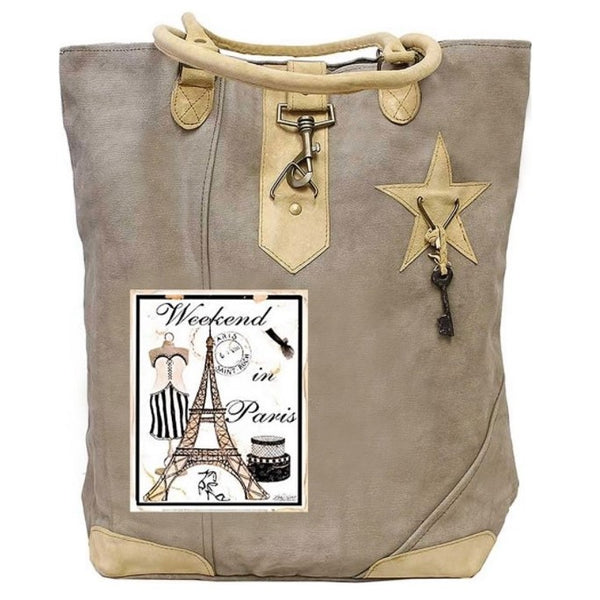 Weekend in Paris Canvas Tote