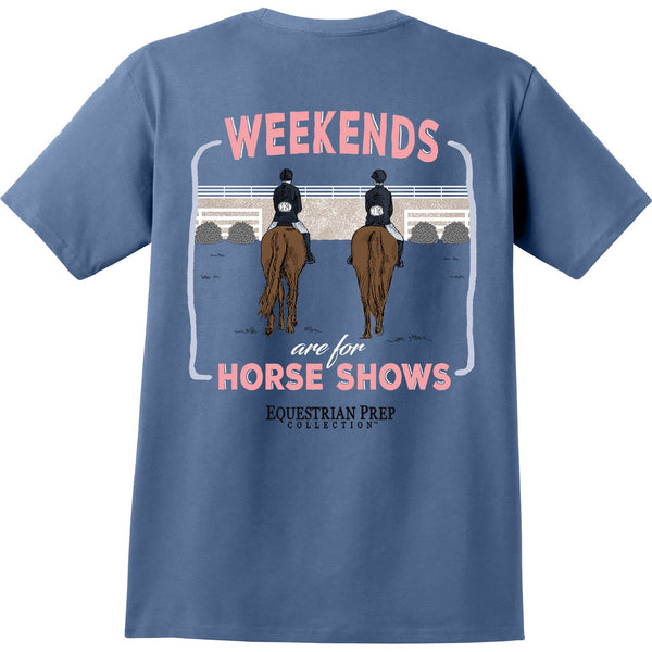 Stirrups Clothing - Ladies Weekends are for Horse Shows Tee - Quail Hollow Tack