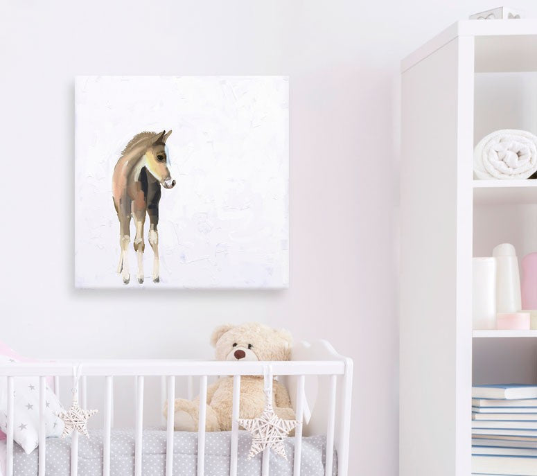 GreenBox Art - Baby Horse - Canvas - Quail Hollow Tack