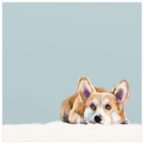 Best Friend - Contemplative Corgi - Canvas