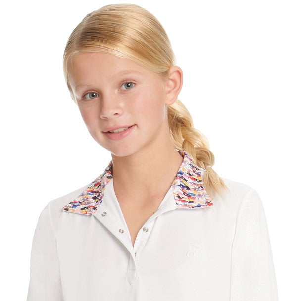 Ovation - Girls Ellie Tech Show Shirt - Long Sleeve - OMG Ponies - Quail Hollow Tack