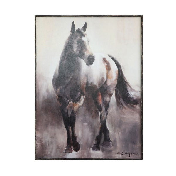 Creative Co-op - Wood Framed Canvas - Quail Hollow Tack