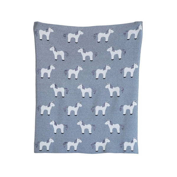 Creative Co-op - Unicorn Baby Blanket - Quail Hollow Tack