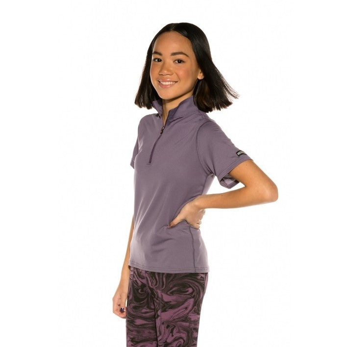 Girls Ice Fil Short Sleeve Shirt - Orchid