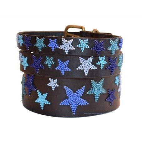 The Kenyan Collection - Beaded Dog Collar - Stars - Quail Hollow Tack