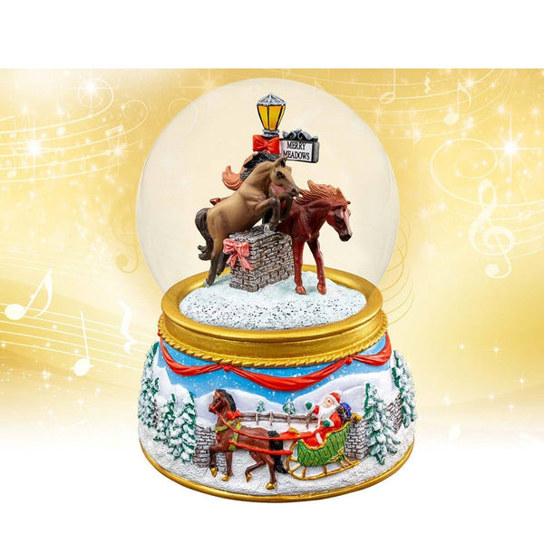 Breyer - Merry Meadows Musical Snow Globe - Quail Hollow Tack