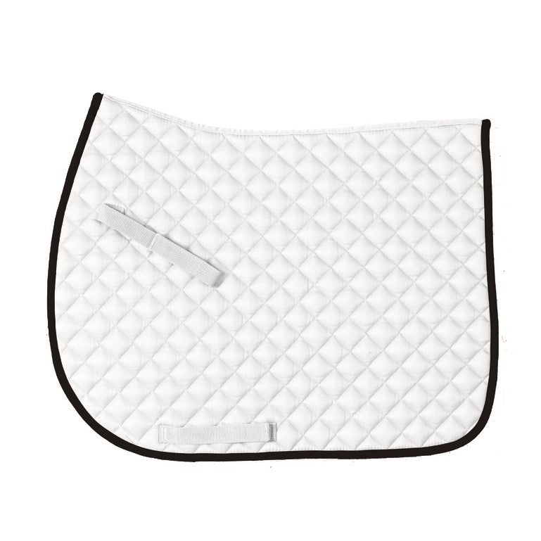 Centaur - Imperial Saddle Pad - White/Black - Quail Hollow Tack