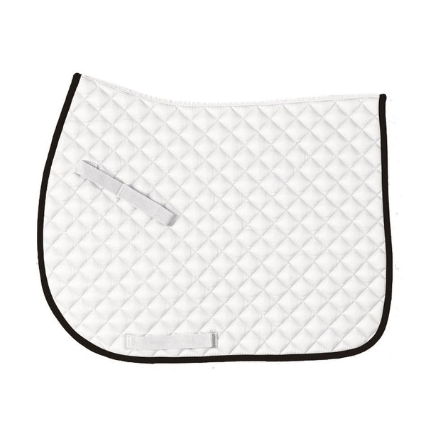 Centaur - Imperial Saddle Pad - White and Black - Quail Hollow Tack