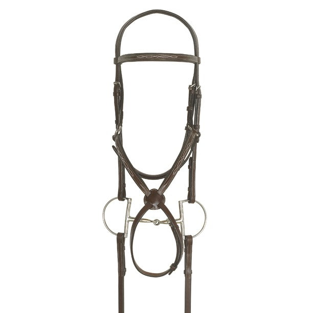 Ovation - Elite Figure 8 Bridle with Rubber Reins - Quail Hollow Tack