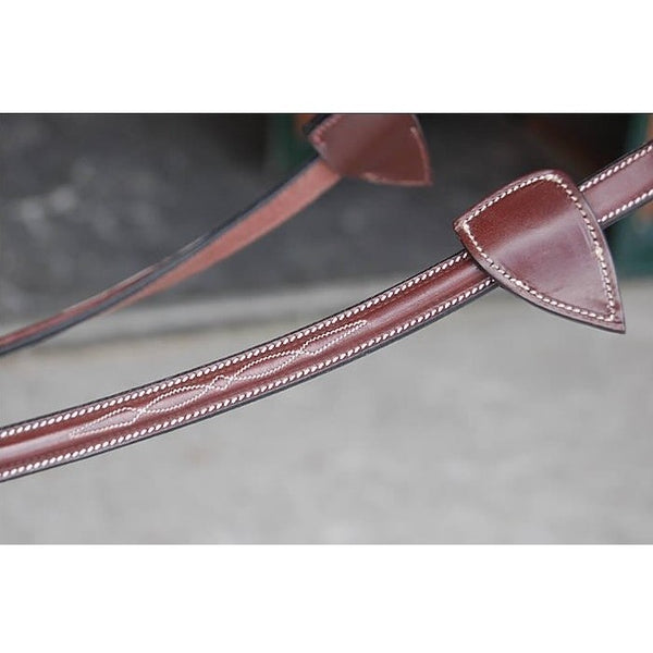 Dy'on - Rubber Lined Reins with Stoppers - Quail Hollow Tack