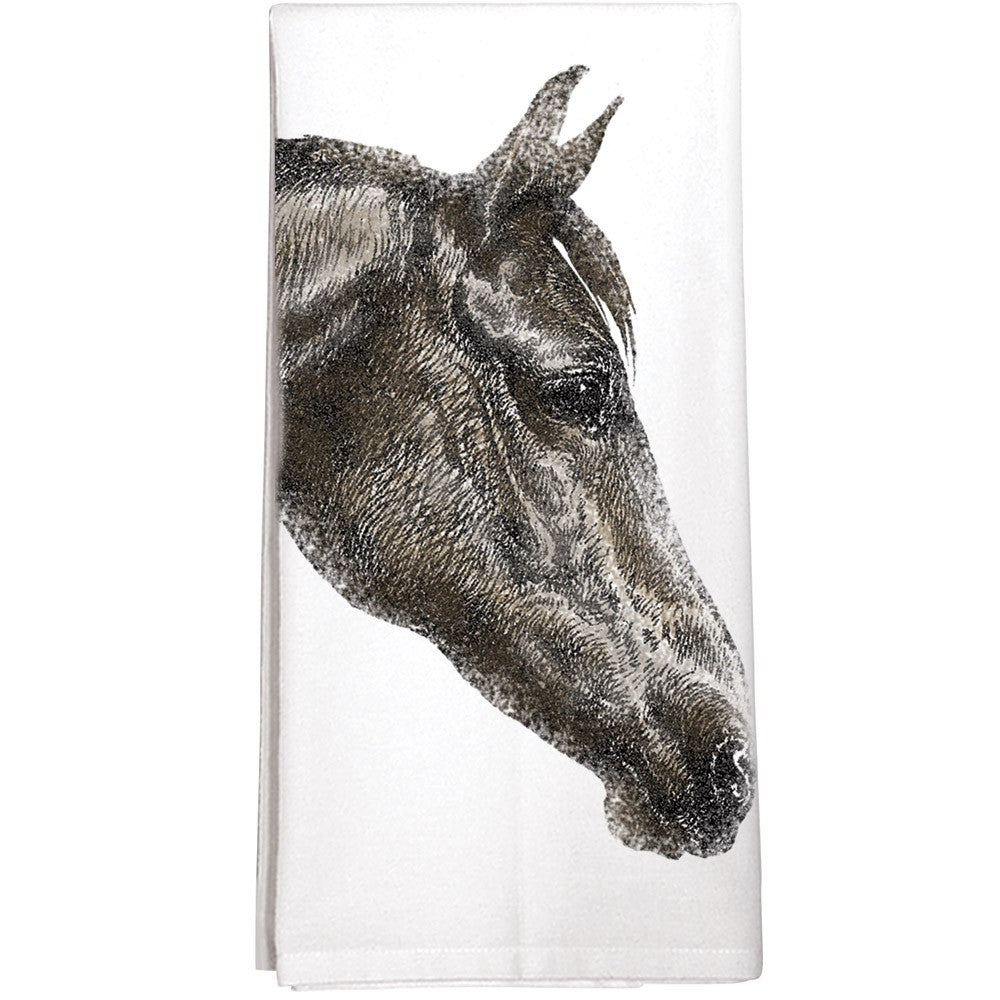 Montgomery Street Designs - Dark Horse Tea Towel - Quail Hollow Tack