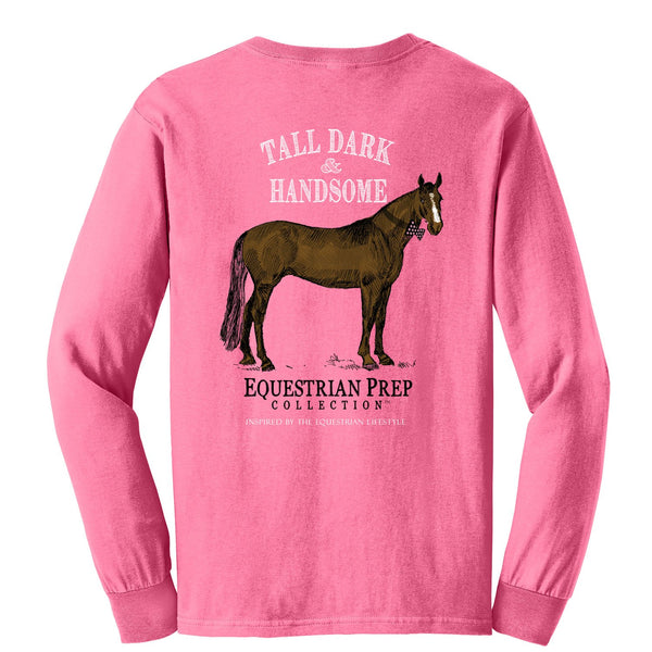 Stirrups Clothing - Ladies Tall, Dark, and Handsome Tee - Quail Hollow Tack