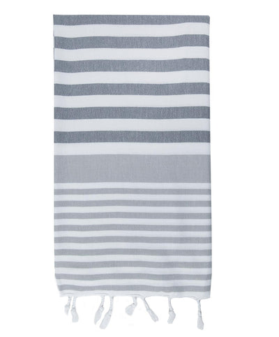 Aegean Turkish Towel with Handmade Fringes