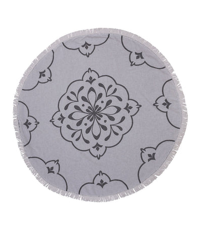Damask Double-sided Round Towel for Beach
