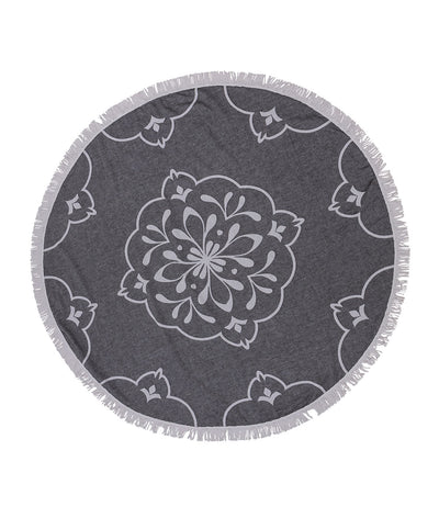 Damask Double-sided Handmade Round Beach Towel