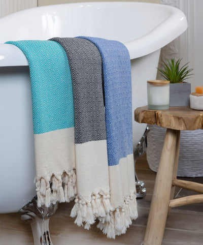 Diamond Cotton Turkish Beach Towels