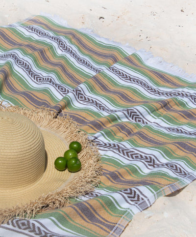 Beach Peshtemal Towel Mexican Patterns