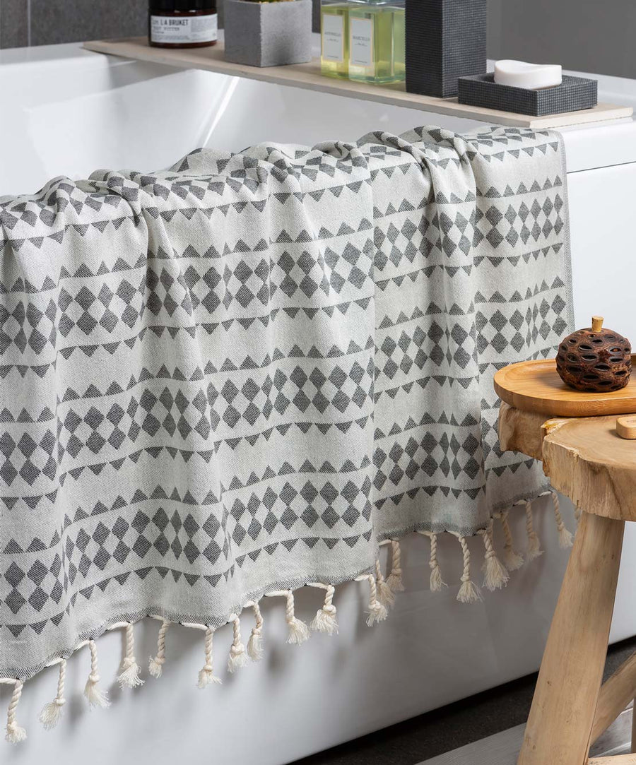 Hills Double-sided Fringed Turkish Towel