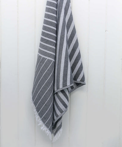 Lane Striped Jacquard Turkish Towel