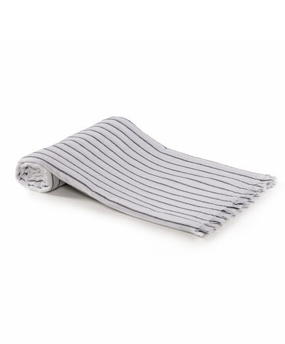 Liny Turkish Towel Black Striped White