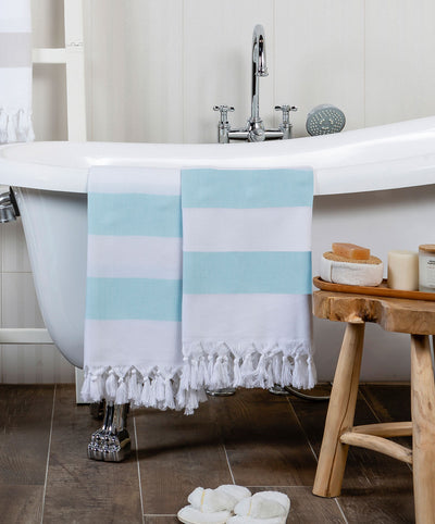 Mediterranean Cotton Turkish Bath Towel with Fringes