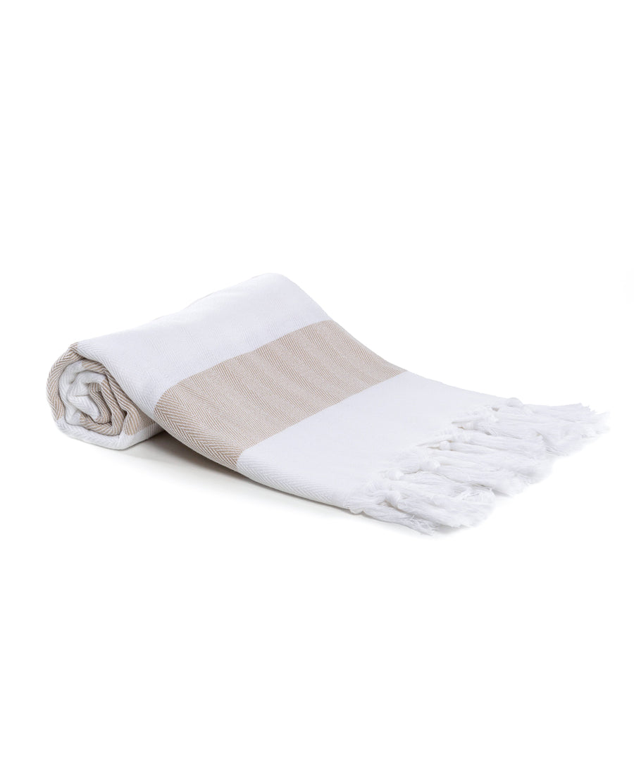 Mediterranean Cotton Turkish Bath Towels with Fringes