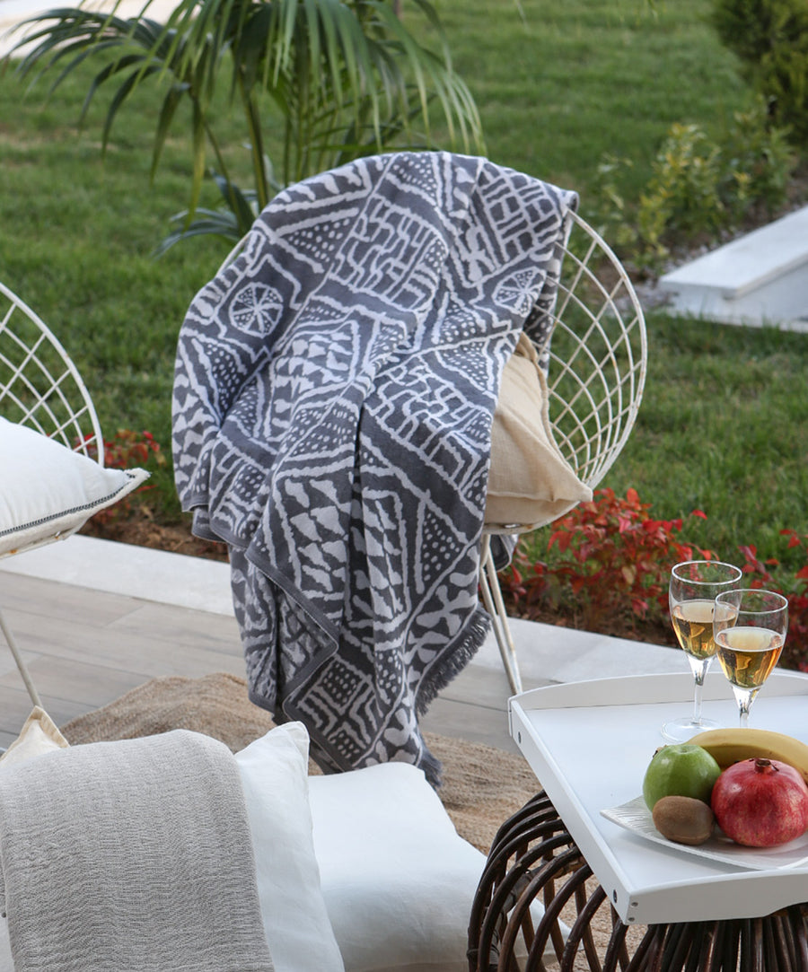 Mirror Cotton Woven Luxury Throw Blanket