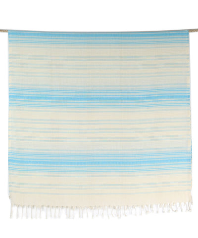 Turkish Bath Towel Turquoise Cotton
