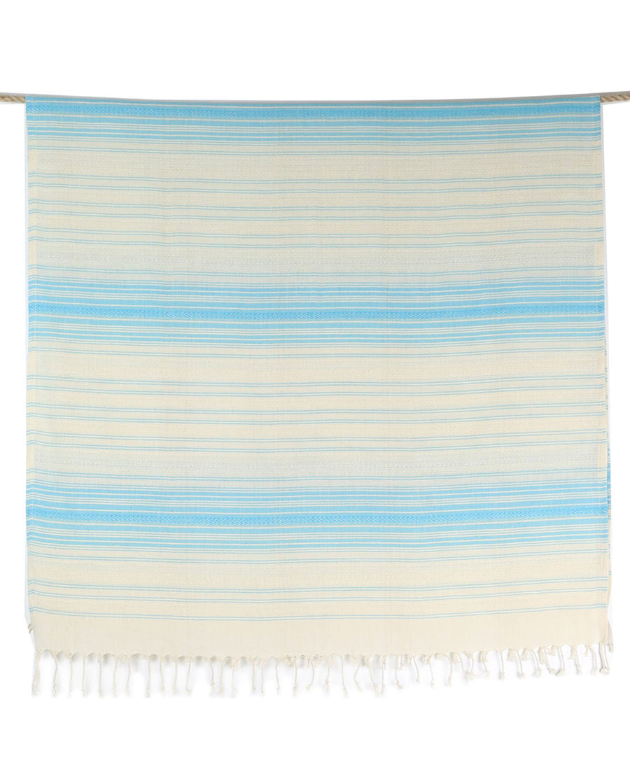 Ottoman Cotton Striped Turkish Towel with Fringes