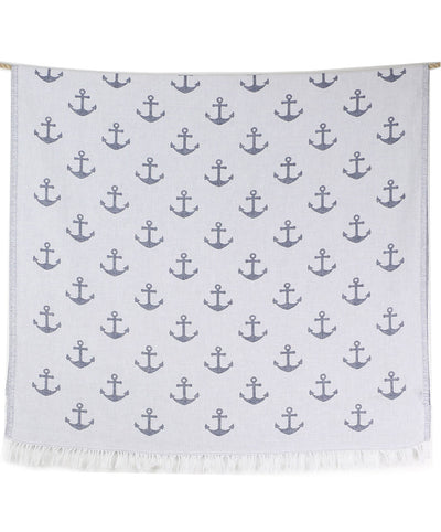 Sail Double-sided Fringed Turkish Beach Towel Details