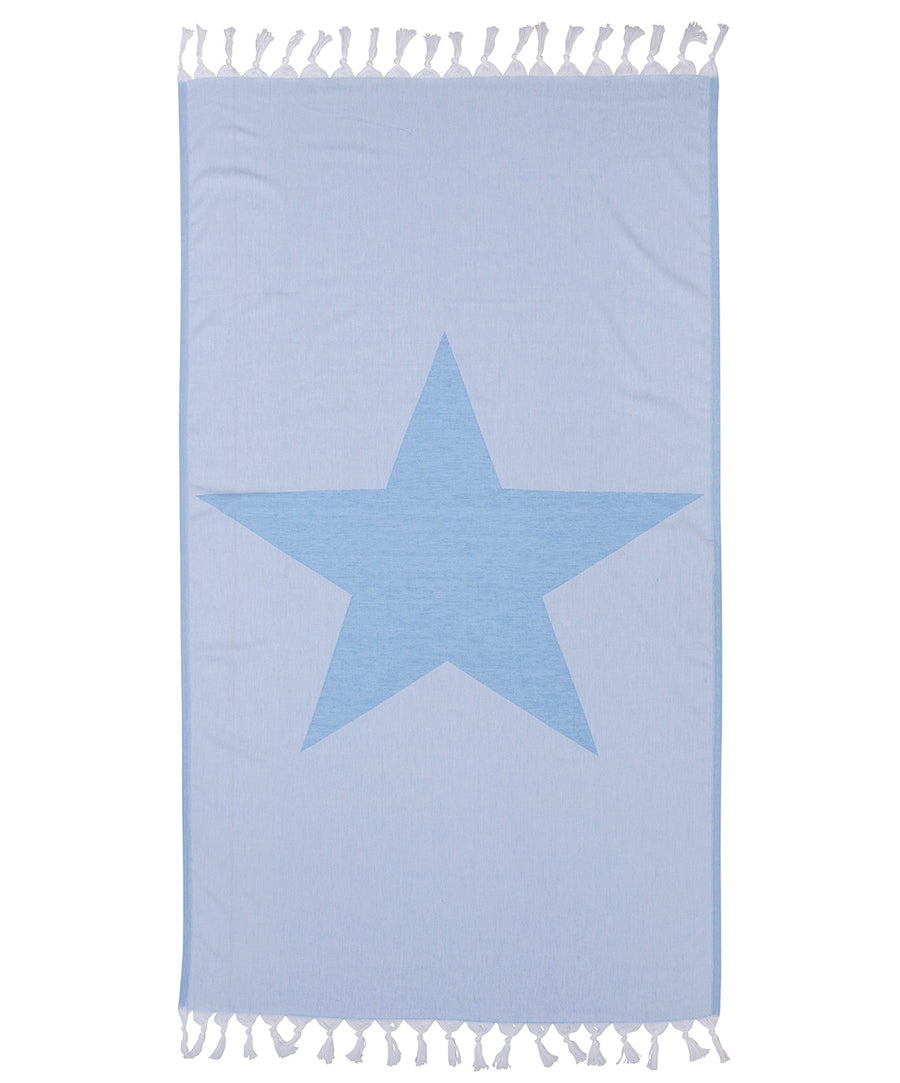 Star 100% Cotton Turkish Towel Blue
