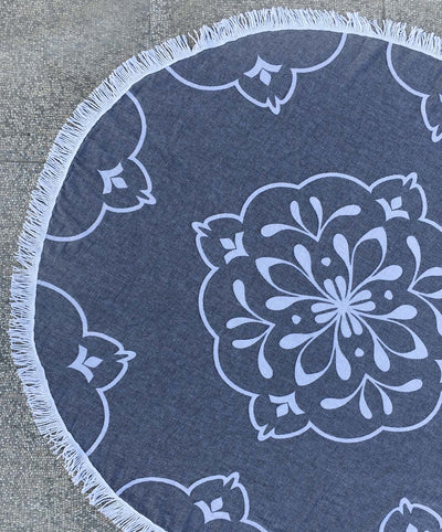 Damask roundie double sided