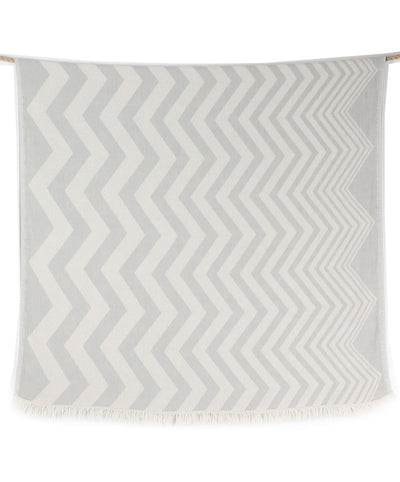 double sided gray beach towel