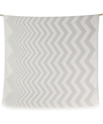 waves double sided soft gray beach towel