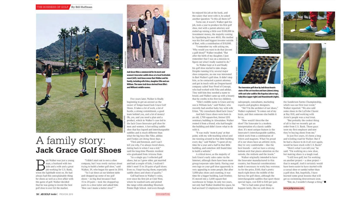 A Family Story: Jack Grace Golf Shoes