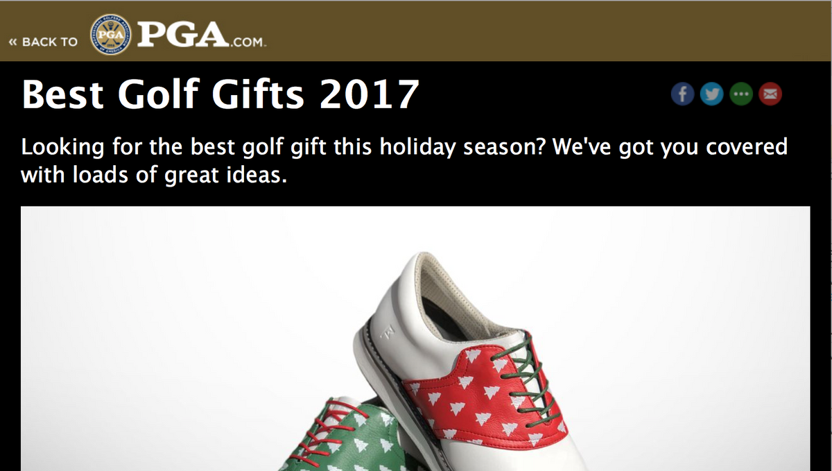 Jack Grace featured in PGA Holiday Gift Guide