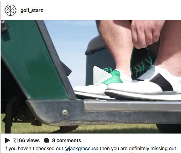 "GolfStarz.us reviews Jack Grace USA, says: ""these really are the coolest golf shoes ever"""