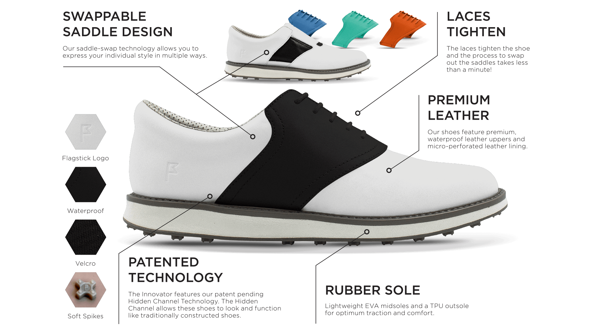 Jack Grace USA | Saddle Golf Shoes | Golf Footwear