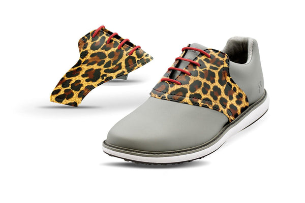 Women's Leopard By Glove It Saddles On Grey Golf Shoe From Jack Grace USA