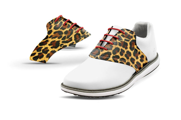 Women's Leopard By Glove It Saddles On White Golf Shoe From Jack Grace USA