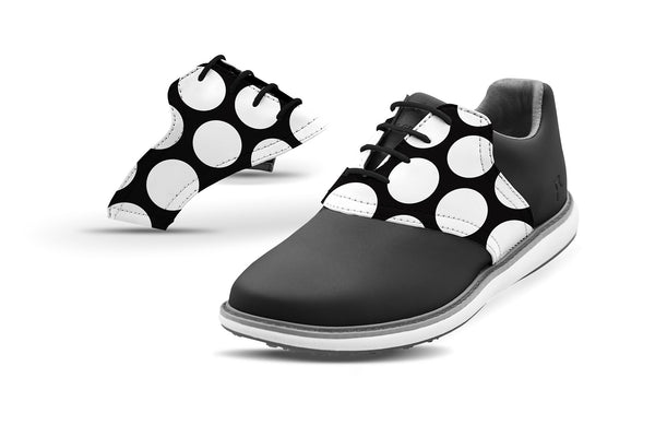 Women's Mod Dot Saddles On Black Golf Shoe Collaboration From Jack Grace USA And Glove It