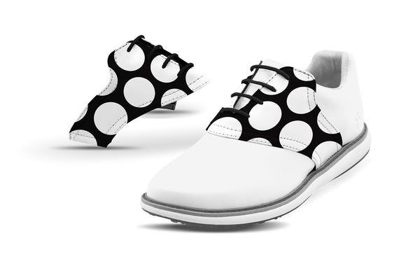 Women's Mod Dot Saddles On White Golf Shoe Collaboration From Jack Grace USA And Glove It