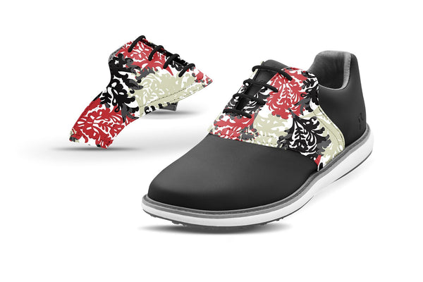 Women's Coral Reef By Glove It Saddles On Black Golf Shoe From Jack Grace USA