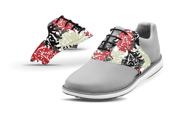 Women's Coral Reef By Glove It Saddles On Grey Golf Shoe From Jack Grace USA