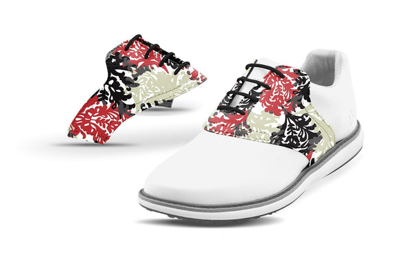 Women's Coral Reef By Glove It Saddles On White Golf Shoe From Jack Grace USA