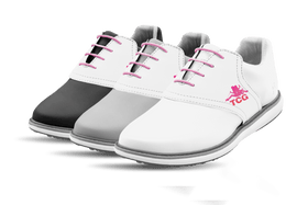 Women's Innovator 1.0 Golf Shoe with Caddy Girls White Classic Saddles & Laces